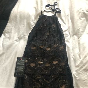 NWT bebe black lace dress size XS